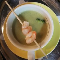 Suppe mit Shrimps
